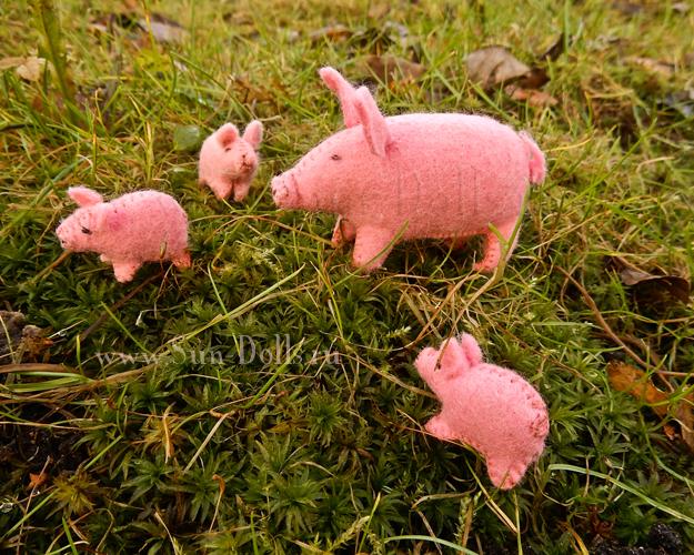 Набор  для изготовления игрушки «Свинья и поросята»